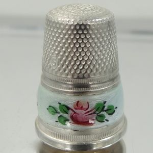 Other - Germany Sterling Pale Blue Enamel Thimble